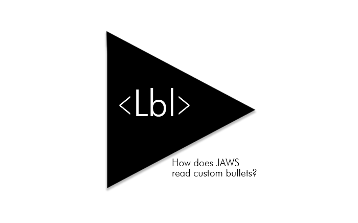 Custom bullet with LBL tag text